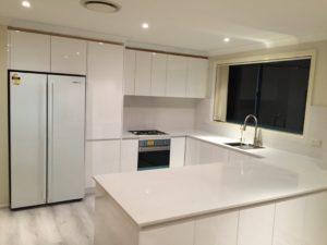 Stone and polyurethane kitchen